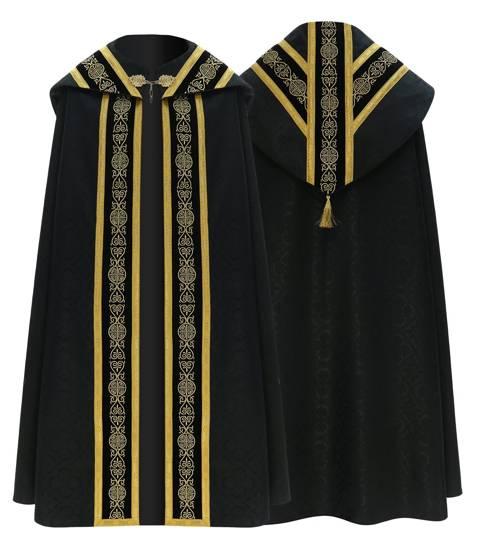 Black Semi Gothic Cope model 751