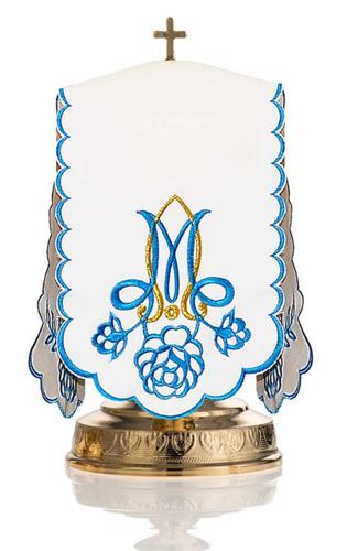 Ciborium veil Marian blue roses
