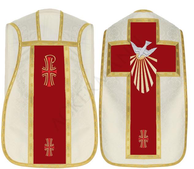Cream Roman Chasuble Holy Spirit