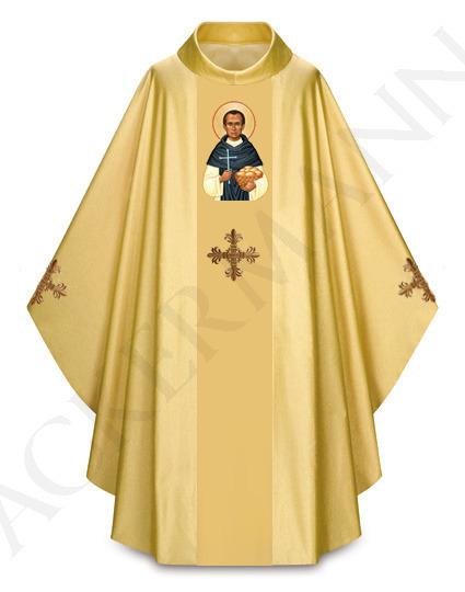 Gold Gothic Chasuble Saint Martin de Porres model 431