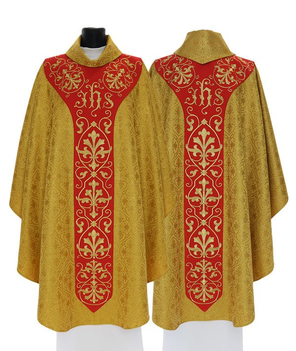 Gold Gothic Chasuble model 756