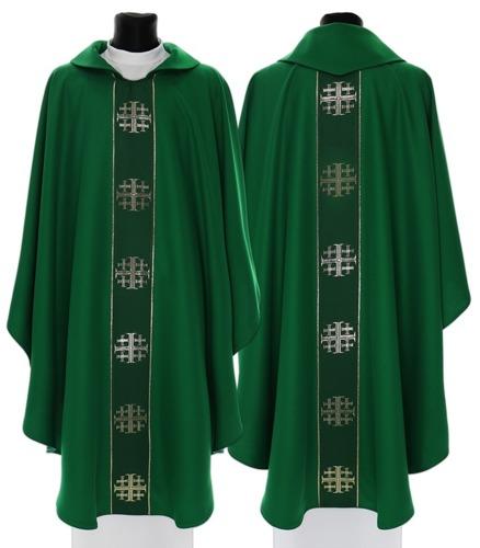 Gothic Chasuble Jerusalem crosses model 103