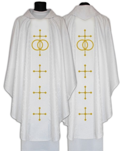 Gothic Chasuble for weddings model 631