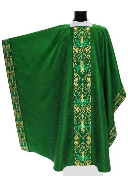 Green Monastic Chasuble model 637