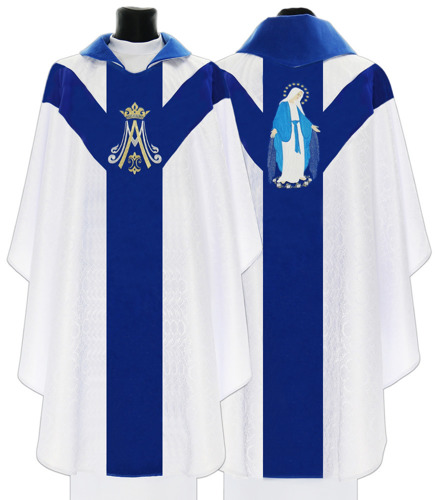 Marian Gothic Chasuble Our Lady of Grace model 721