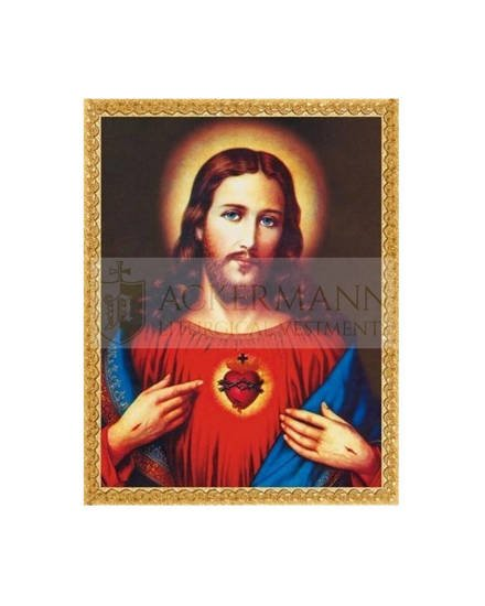 """Picture on the fabric """"Heart of Jesus"""""""