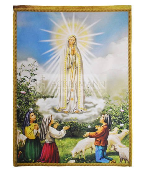 """Picture on the fabric """"Our Lady of Fatima"""""""