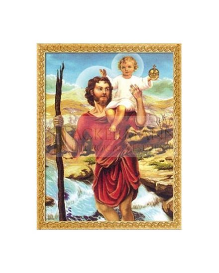 """Picture on the fabric """"St. Christopher"""""""