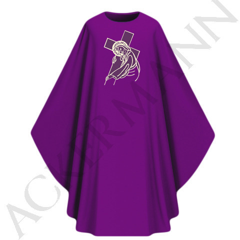 Purple Gothic Chasuble model 439