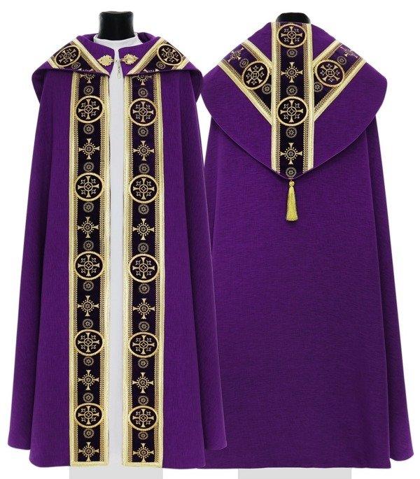 Purple Semi Gothic Cope model 579