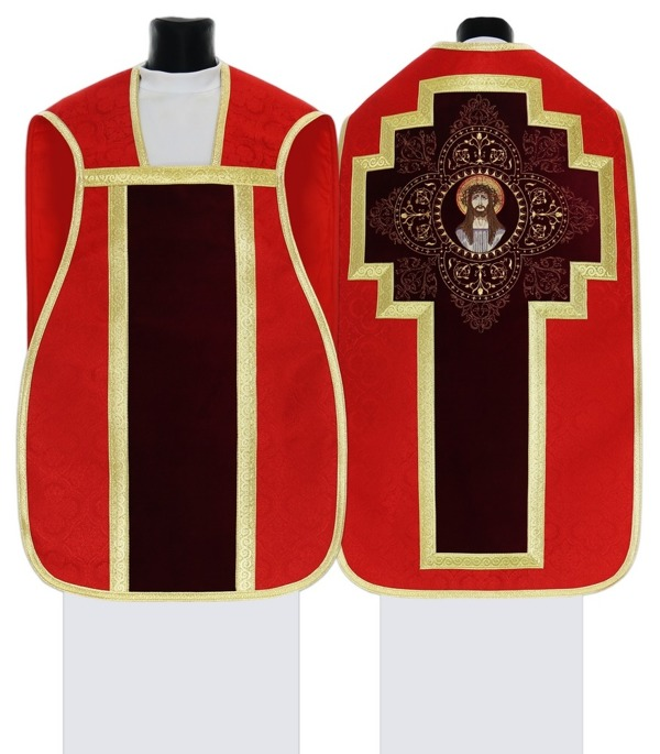 Red Roman Chasuble