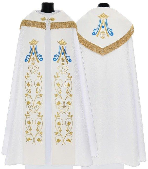 White Marian Gothic Cope model 537